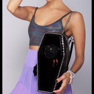Betsey Johnson Kitsch Coffin Bag Backpack Purse